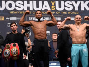 Anthony Joshua v Oleksandr Usyk Weigh In for fight scheduled on Saturday Sept. 25.