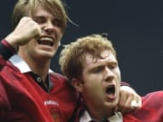 David Beckham and Paul Scholes of Manchester United