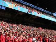 Danimarka - Belçika maçı tribünleri