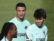 Cristiano Ronaldo in Portugal training