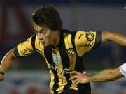Facundo Pellistri con Peñarol