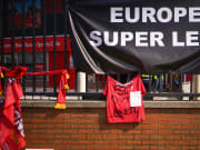 Proteste dei tifosi Reds contro la Superlega