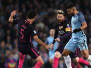 Aguero contra Barcelona