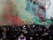 Erneute Fan-Proteste vor dem Old Trafford