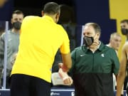 Michigan vs Michigan State  odds, spread, line, prediction, over, under and betting insights for Sunday's NCAAM college basketball game today.