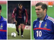 Thierry Henry, Rivaldo et Zinédine Zidane.