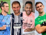 Gareth Bale, Branislav Ivanovic, Pierre-Emerick Aubameyang, Jurgen Klopp