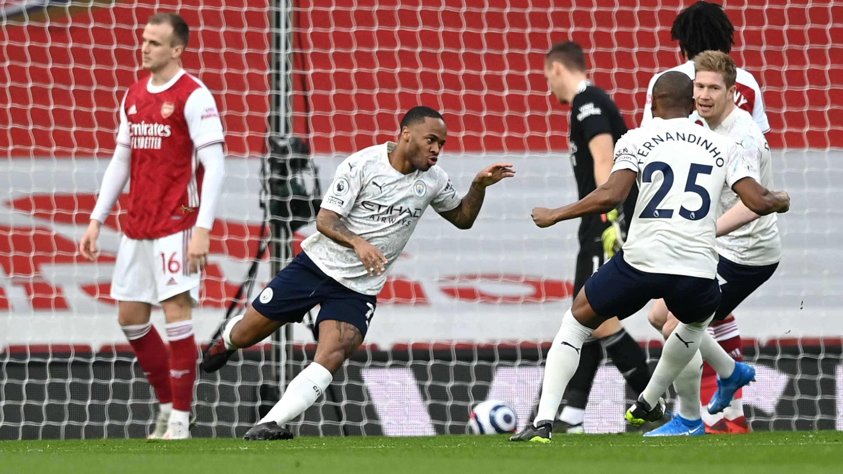 <p>Arsenal 0-1 Manchester City: Player ratings as Raheem Sterling header secures City Triumph thumbnail