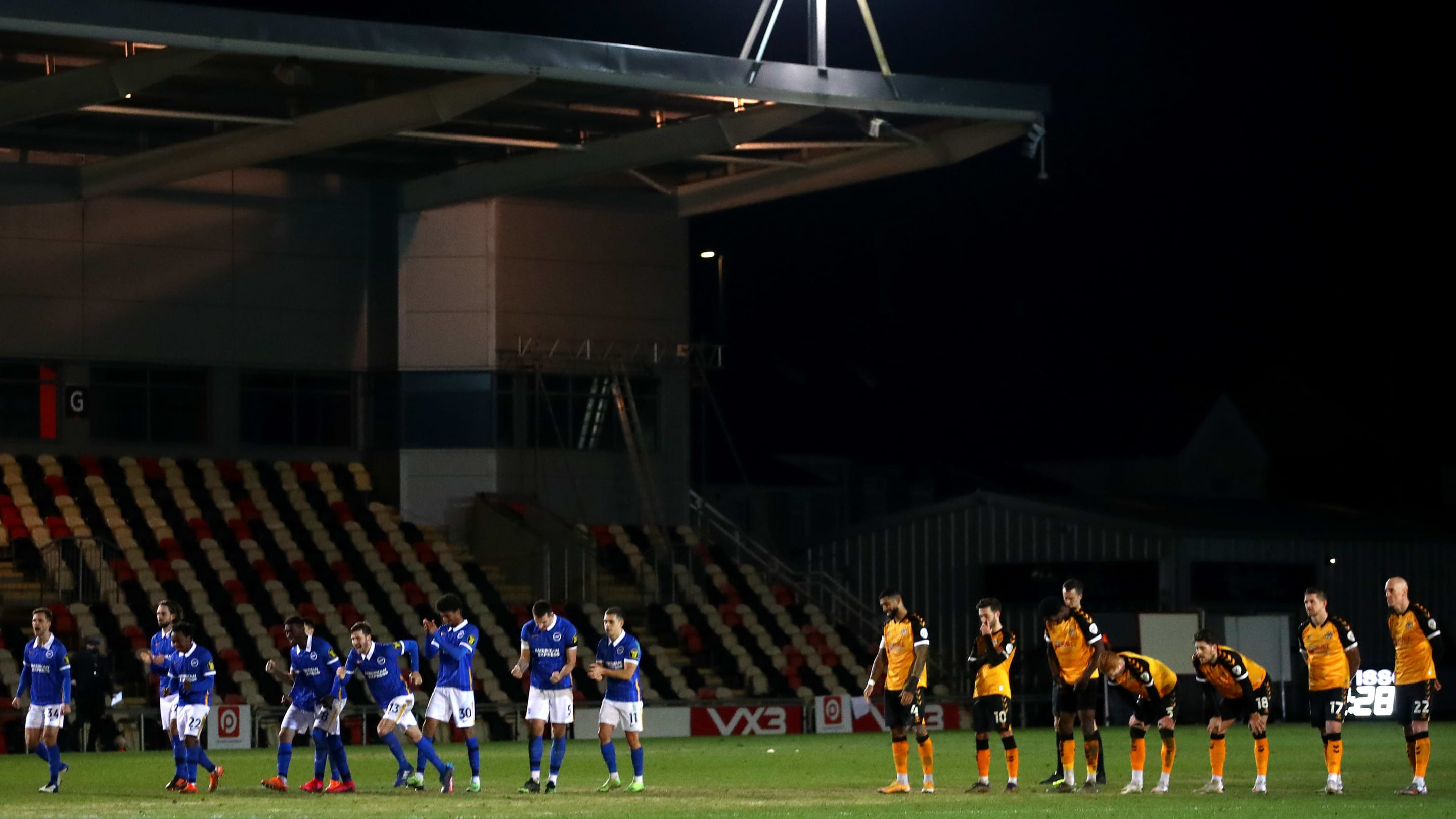 FA Cup roundup:  Brighton defeat Newport on penalties, Leeds shocked by Crawley & more