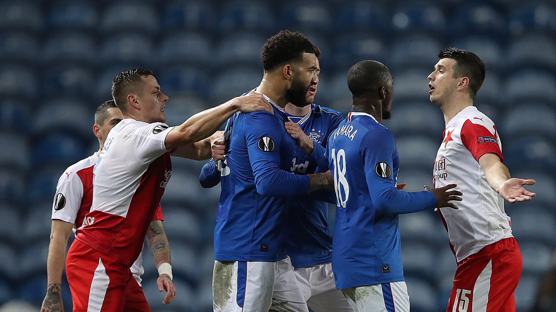 Rangers' Glen Kamara claims he was racially abused by Slavia Prague's Ondrej Kudela thumbnail