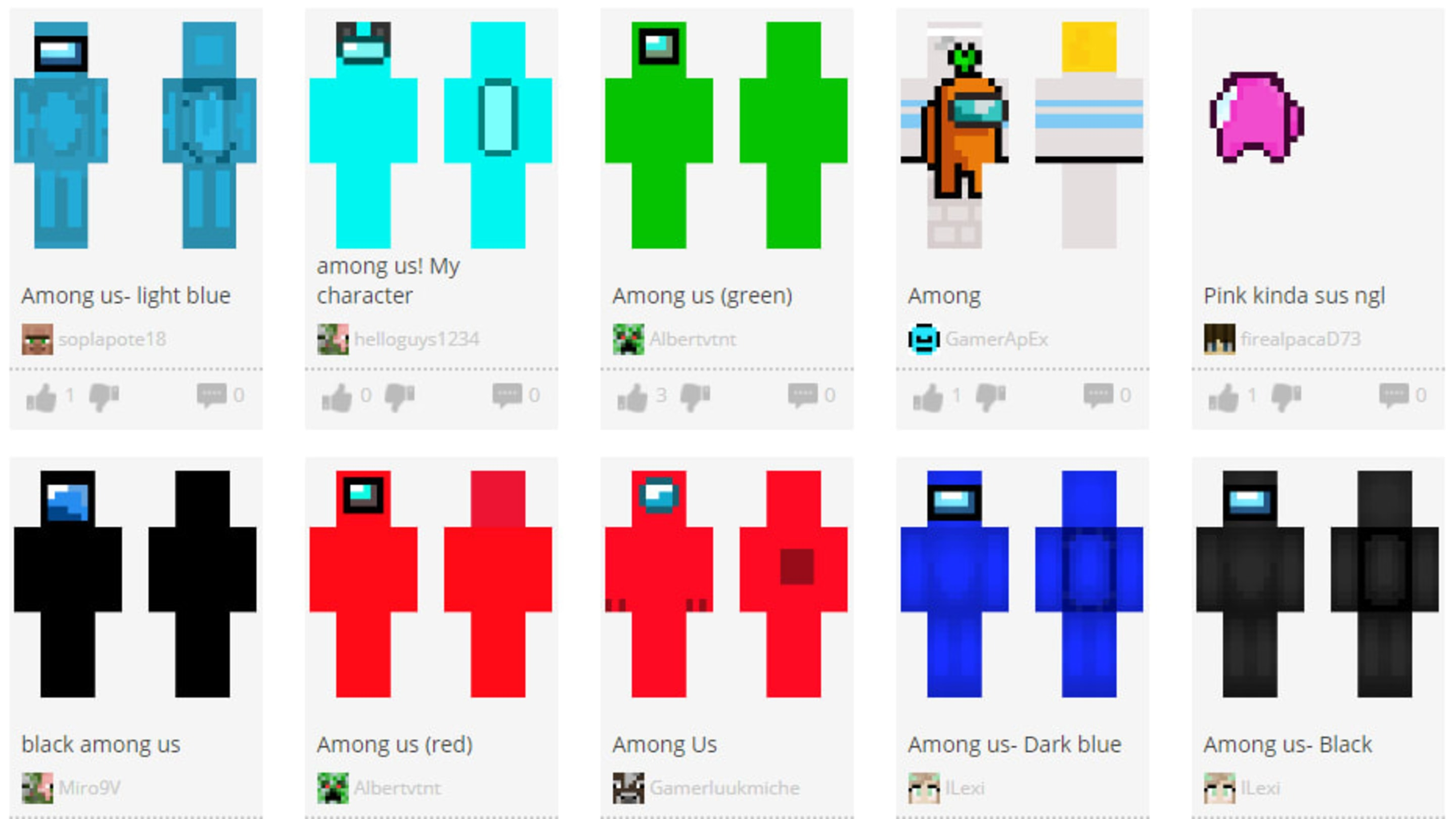 Among Us Minecraft Skin: How to Get - Flipboard