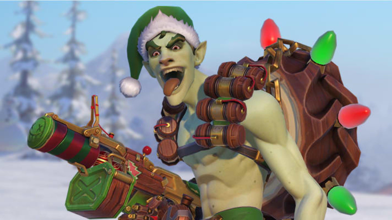 Overwatch Winter Wonderland Week 1 Challenges: How to Get the Elf Junkrat Skin