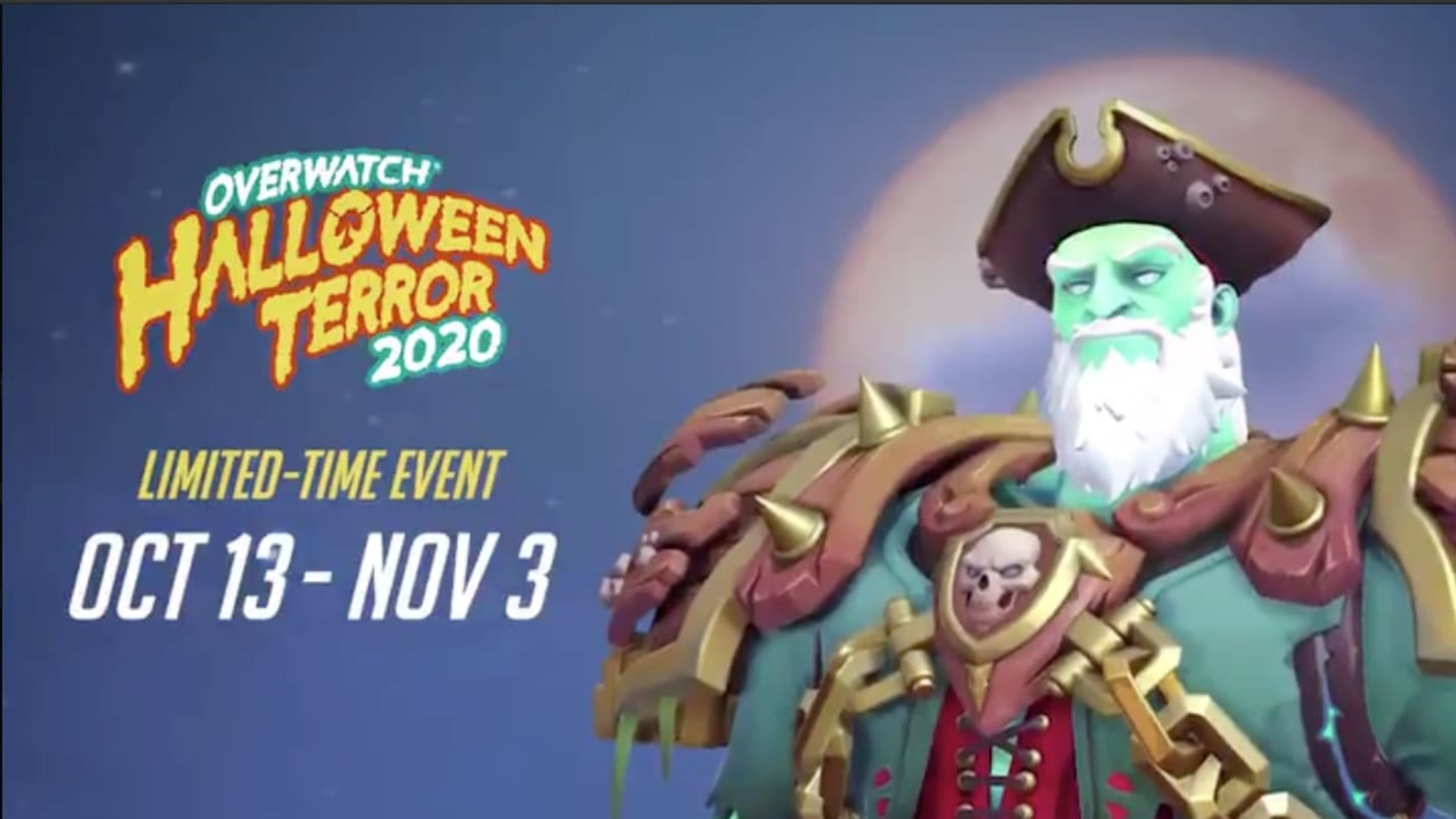 Fastest Exp Overwatch 2020 Halloween 🎮 Flying Dutchman Sigma Skin Revealed for Overwatch Halloween