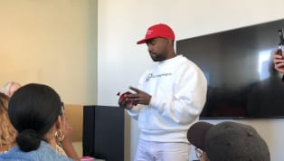 Kanye Shatters All Concept of Right vs. Left by Pairing MAGA Hat With Kaepernick Shirt