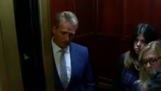 WATCH: Sexual Assault Victims Confront Jeff Flake for Supporting Kavanaugh