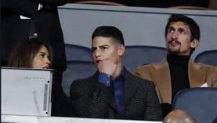 James Rodríguez asistió a la final de Copa Libertadores acompañado de Shannon de Lima