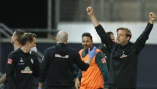 """Der mit etwas Fortüne erreichte Klassenerhalt von Werder Bremen war für Trainer Florian Kohfeldt """"ein riesiger Kraftakt"""". Sportchef Frank Baumann ist..."""