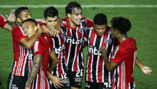 Así llegan los rivales de los equipos argentinos en la Copa Libertadores 1. River Sao Paulo festejando un gol River comparte grupo en la Libertadores con Sao...
