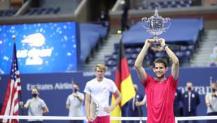 El tenista austríaco Dominic Thiem se consagró campeón del US Open 2020 al vencer en la final al alemán Alexander Zverev por 2-6, 4-6, 6-4, 6-3 y 7-6 (6), y...