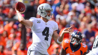 Raiders quarterback Derek Carr left Sunday's game against the Broncos with an apparent back injury, causing E.J. Manuel to have to enter the game for...