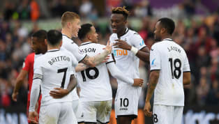 Swansea reduced some of the early pressure on their points tally in a positive 2-0 win at the Liberty Stadium to lift them temporarily free of the relegation...