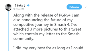 ZeRo Puts His Smash 4 Career on Hold