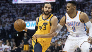 Tell us how you really feel, Russ. After Ricky Rubio had a 26-point triple-double in Game 3,Russell Westbrook claimed that he was going to shut him down...
