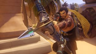 """Hanzo got a new voice line on the Overwatch Public Test Region, """"Simple Geometry,"""" asa reference to his old Scatter Arrow ability. Hanzo's old Scatter Arrow..."""