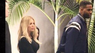 Khloé Kardashian yTristan Thompsonacabaron con los rumores sobre una supuesta nueva infidelidad del jugador de la NBAal llegar a una fiesta juntos y...