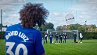 rity Chelsea stars past and present helped'Give Cancer a Kicking' by taking aim at several targets suspended from drones as partofHyundai's support for...