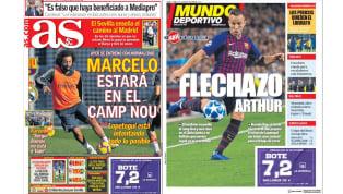 Mientras el Madrid se concentra en la recuperación de Marcelo para enfrentar al Barcelona, el cuadro culé apuesta por Arthur en la mitad de la cancha para...
