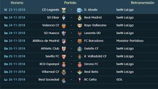Todos los partidos, horarios y TV de la 13ª jornada de LaLiga Santander