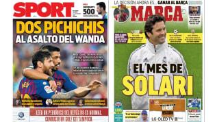 Solari cumple un mes en el Real Madrid y el Barça vs Atlético Madrid en las portadas