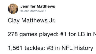 Clay Matthews Jr.'s Daughter States His Case for Making the Hall of Fame