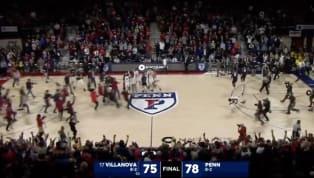 VIDEO: Fans Storm the Court as Penn Scores Massive Upset Over Villanova