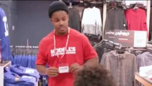 VIDEO: Giants WR Sterling Shepard Went Undercover at Modell's and a Kid Called Him a 'Trash' Player