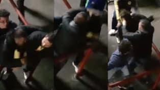 La pesada pelea de aficionados a la salida del partido de ida entre América y Cruz Azul