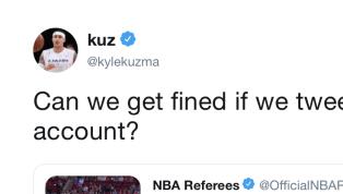 Kyle Kuzma Has Hilarious Response to NBA Refs on Twitter
