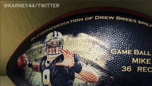 Drew Brees Sent Letters and Customized Footballs to Everyone Who Helped Him Break Pass Yards Record