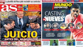 El diario As destaca en su portada el juicio que llevará a cabo el Santiago Bernabéu al Real Madrid antes de partir a los Emiratos Árabes Unidos para jugar el...