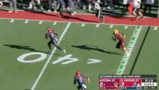 VIDEO: Fresno State Takes Awesome Pick-Six to the House Against Arizona State