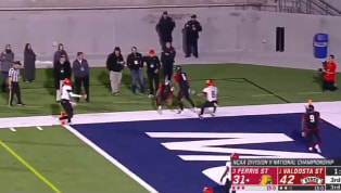 VIDEO: Ferris State Scores Craziest TD of Year Against Valdosta State in Division-II Title Game