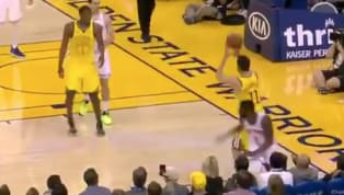 """Warriors guardKlay Thompsonmust've seen a ghost on Tuesday night.The Golden State sharpshooter made a rare appearance on """"Shaqtin' a Fool"""" after after..."""