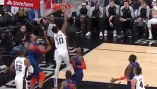 DeMar DeRozanis hustling to bring the San Antonio Spurs back to the playoffs (what else is new?!), and he established his authority early against the OKC...