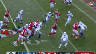 En el primer ataque de losKansas City Chiefscontra losIndianapolis Colts, en el duelo de la Ronda Divisional entre ambos equipos, lograron anotar un...