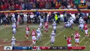 LosKansas City Chiefsse alejaron nuevamente en la pizarra de anotación en el partido de la Ronda Divisional contra los Indianapolis Colts con un touchdown...