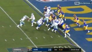 Dallas Cowboyscomenzó abajo en el marcadorla segunda mitad del partido por la Ronda Divisional contraLos Angeles Rams. Pero una larga ofensiva culminada...