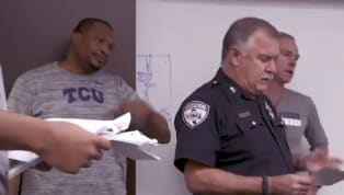 Owen Aschierisdid not expect what was coming next when a local cop walked in on a TCU basketball meeting. What would happen next has to bring a tear to your...