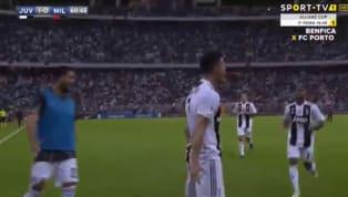 Siêu sao Cristiano Ronaldo đã ghi bàn thắng mở tỷ số cho Juventus trong cuộc đối đầu với AC Milan, đó là một bàn thắng tới từ cú đá đánh đầu cận thành đẹp...