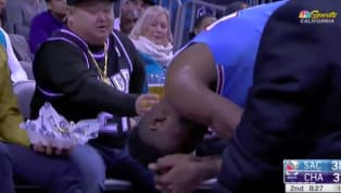 One Sacramento Kings fan showed some terrific support for his guy tonight on the road in Charlotte.He offered his beer to Harry Giles after the forward was...